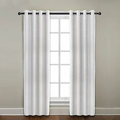 CityLinen Linen Grommet Window Curtain Panels
