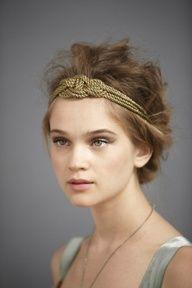 Gold headband, niffty