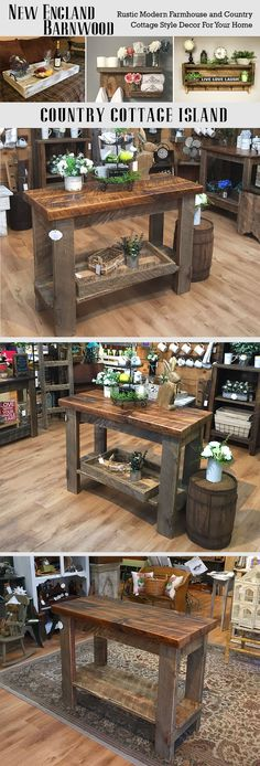 This Farmhouse Kitchen Island is adorable.Very Rustic and Primitive!!! (Diy Pallet Island)