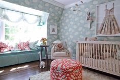 """Pasadena Showcase House of Design 2014: """"The Nursery Suite"""" - Amy Peltier Interior Design & Home Kid Spaces, Daybed, Girl Nursery, Cribs, Kids Room, Toddler Bed, Photo Galleries, California Cool, Interior Design Studio"""
