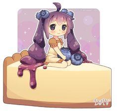 Blue Berry Cheesecake - Chibi Food