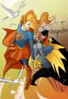 batgirl supergirl ComicsOdissey