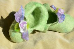 Baby's  felted  booties by Nika Ivanoff (My Felted Fantasy)