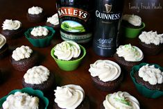 Do you know what you're making for St. Patrick's Day? I bet you do NOW! These Guinness Chocolate Cupcakes with Baileys Cream Cheese Frosting are a hit EVERY time I make them.