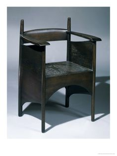 A Stained Oak Armchair for the Argyle Street Tea Rooms, Glasgow, 1896 by Charles Rennie Mackintosh