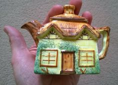 Vintage (1950s?) Miniature Keele Street Pottery Co Cottage Ware Teapot