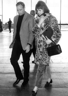 Marlon Brando & unidentified woman