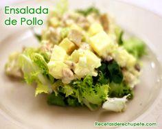 Ensalada waldorf de pollo