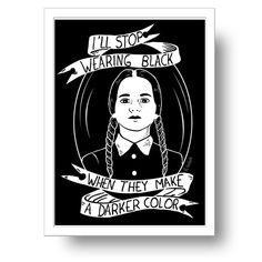 Image of Wednesday Addams print