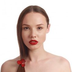 Meet me in red KAN26067ROUG French Made Pony Tail