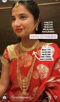Gold Nose Rings, Gold Necklace, Sari, Fashion, Saree, Moda, Gold Pendant Necklace, La Mode, Fasion