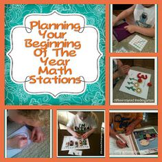 Setting up math stations for the first of the year and a freebie.  A Differentiated Kindergarten