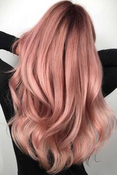 Rose Gold Hair Balayage picture2