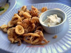 Calamari Recipes, Greek Recipes, Fish And Seafood, Macaroni And Cheese, Shrimp, Appetizers, Cooking Recipes, Sweets, Lunch