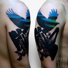 Bird tattoos by Szymon Gdowicz - Pain Ting