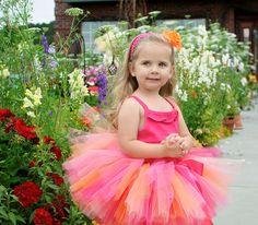Baby Tutu Toddler Tutu Pink Orange Birthday Tutu by TrinitysTutus, $25.00