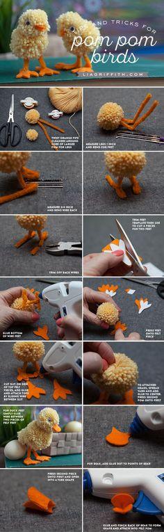 Yarn Pom Pom Animals Kids Craft - Lia Griffith