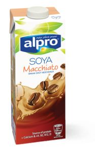 Alpro Soya drink Macchiato.  SO good!! Even better with vanilla syrup <3