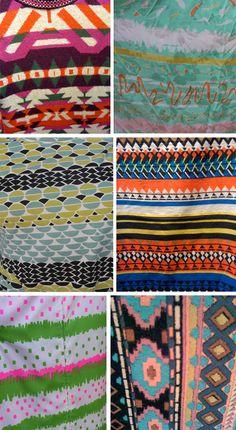 Nice tribal/native inspired prints on pattern observer