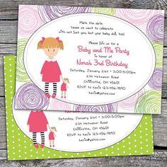 Items Similar To Baby Doll Birthday Party Invitations Option Print On Etsy