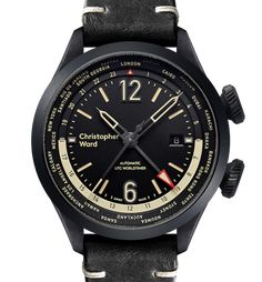 """Christopher Ward C8 UTC Worldtimer Watch - by James Stacey - See what's new with Christopher Ward now at: aBlogtoWatch.com - """"Based on the Christopher Ward C8 Flyer, their new C8 UTC Worldtimer is a pilot-style twin-crown sport watch with a world time bezel and an aviation-inspired dial design. For both travelers and those who work on international projects, a world timer can be a very handy complication. With the ability to display the time in any standard UTC timezone..."""""""