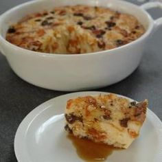Yum - easy bread and butter pudding (no cream required). Made this tonight with leftover hot cross buns and a bit of fruit toast.
