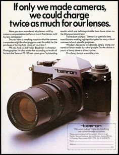 """Tamron, """" if only we could make cameras"""""""