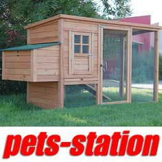 LARGE Chicken Coop Rabbit Hutch Ferret Cage Hen Chook House 9 Guinea Pig Run $125.80 198cm(L) x 75cm (D) x103cm (H) Suitable for up to 4 Chickens 2 x Wooden removable perch in the coop. Metal pull out tray for easy cleaning p/u dandenong south