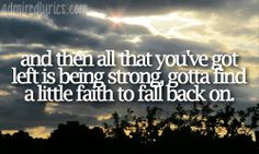 Faith To Fall Back On -- Hunter Hayes