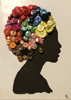 40 Decorative And Brilliant Button Art And Craft Ideas Fun Crafts, Diy And Crafts, Crafts For Kids, Arts And Crafts, Recycled Crafts, Summer Crafts, Button Art, Button Crafts, Afrique Art