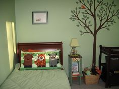 Cute Forest Themed Bedroom, Iu0027d Make It Slightly Girly For My Girl But