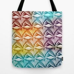 PYRAMID PATTERN Tote Bag by hardkitty - $22.00 Tote Pattern, Tote Bag, Bags, Handbags, Totes, Bag, Tote Bags, Hand Bags