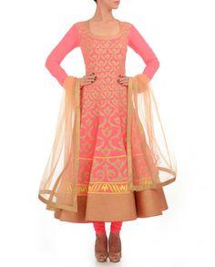 Neon Pink Anarkali Suit #Anarkalis #suits #ethnic #traditional #Indianfashion #saris #classic #embellished #embroidery #embroidered #celebratingindia