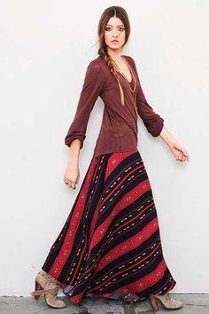 Blu Moon Wrap Skirt in Navajo Tencel on shopstyle.com