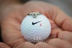 A.B.E. Photography #ABEphotography #love #ring #engagementring #va #virginia #golf #golfcourse #golfball #diamond #wedding #nike #justdoit