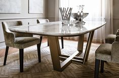 Столы - Коллекция - Casamilano Home Collection - Italy Pedestal Dining Table, Dining Room Table, Table And Chairs, Dining Chairs, Marble Tables, Drawer Design, Interior Decorating, Interior Design, Dining Room Design