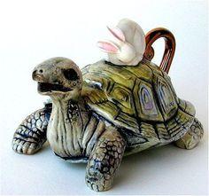 Unique turtle teapot