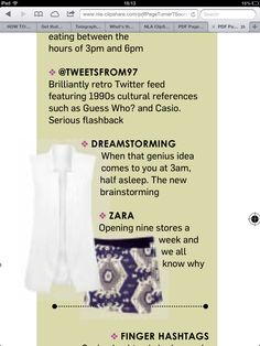 Dreamstorming cut from Sunday Times Style mag 24/03/13
