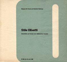 'Stile Olivetti Geschichte und Formen einer Italienischen Industrie' Museum für Kunst und Gewerbe Hamburg Exhibition Catalog, Design: Walter Ballmer, 1962