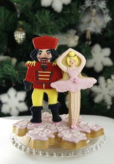 The Nutcracker Cookies inspired in the characters of the Nutcracker Ballet