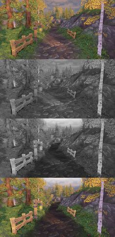 [UDK] Painted Low Poly Environment - Polycount Forum
