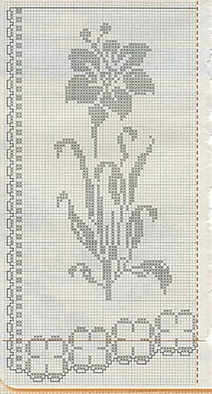 This Pin was discovered by Gül Crochet Lace Edging, Thread Crochet, Crochet Stitches, Crochet Doilies, Crochet Patterns, Crochet Flowers, Crochet Curtains, Crochet Tablecloth, Cross Stitch Designs