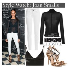 """""""Style Watch: Joan Smalls"""" by nfabjoy ❤ liked on Polyvore featuring Martin Grant, T By Alexander Wang, Gianvito Rossi and Paige Denim"""