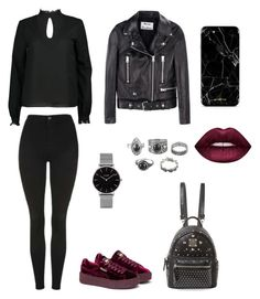 """polyvore"" by jesy-smith on Polyvore featuring mode, Boohoo, Topshop, Acne Studios, Puma, MCM et CLUSE"