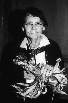"""Barbara McClintock. Barbara McClintock (1902-1992) was awarded a Lasker Prize in 1981 and Nobel Prize in 1983. She discovered that genes could move within and between chromosomes.   Photos from: """"Ten Historic Female Scientists You Should Know"""""""