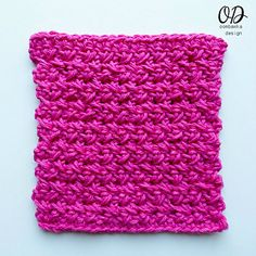 Very Basic Dishcloth | Kitchen Crochet Tutorials with oombawkadesigncrochet.com