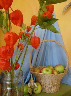 Nature table koeteren: september 2012 פינת עונה ספטמבר, סתיו, ראש השנה, תפוחים