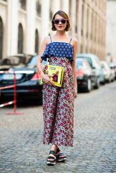 Wearing House of Holland jumpsuit & clutch, Marni flatform sandals, Karen Walker x Liberty's sunglasses, Eddie Borgo bracelet and Thomas Sabo earring at Paris Haute Couture AW15