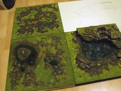 Modular Game Boards, made from styrofoam. Follow the link to see how  these were made.