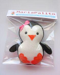 Baby Penguin Plush adorable Fleece / felt baby by Mariapalito, $20.00